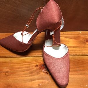 Ladies evening high heel shoes size 7.5